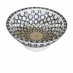 Grid Flat Bone Inlay Bowls