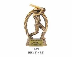 Cricket Batsman Resin Sports Trophy