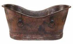 Antique Copper Bathtub Hammared