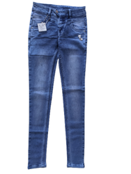 Skinny Zipper Ladies Fancy Denim Jeans