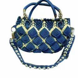 Cotton Ladies Blue Designer Bag, Size/Dimension: 8
