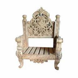 24x28x42 Inches 35 Kgs Antique Wooden Armchair
