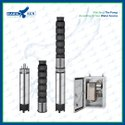 6 10HP AC CI Solar Submersible Pump Set With Controller