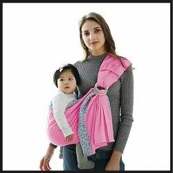 Pink Cotton Baby Sling Carrier