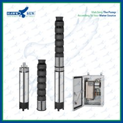 6 7.5HP AC CI Solar Submersible Pump With Controller