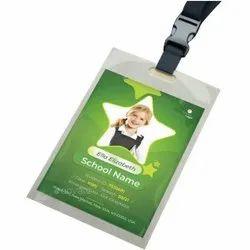 Rectangular One Sided School ID Card, 5 g, 58 X 88 Mm