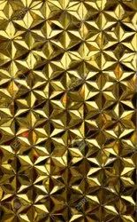 Golden Decorative Glass, For Home Decor, Thickness: 3 Mm