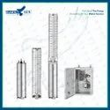 4 1HP DC Solar Submersible Pump Set With Controller