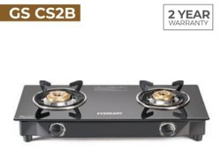 Eveready Black GS CS2B 2 Burner Manual Gas Stove, Size: 32x70x12 Cm