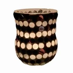 DC35049 Mosaic Glass Tealight Candle Holdar