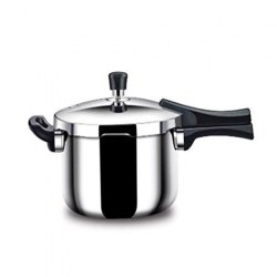Outer Lid Stainless Steel Pressure Cooker, For Home, Capacity: 5 L