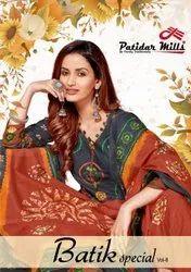 Patidar Mills Batik Special Vol 8 Cotton Patiyala Style Dress Material Catalog