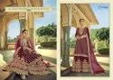Amyra Designer Noor Georgette With Work Sharara Style Salwar Suit Catalog