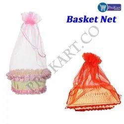Prokart Gift Basket With Net Cover, Christmas Gift Basket For Gifting Purpose, Set Of 1