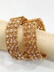 Round Party Wedding Wear Brass Bangles