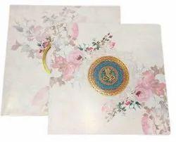Exclusive Designer Wedding Card, 2 Leaflet