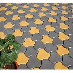 Yellow,Grey Concrete Interlocking Paver Block, For Parking,Landscaping, Thickness: 60 Mm