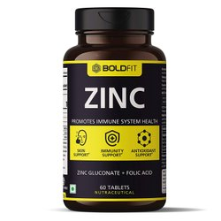 Boldfit Zinc Supplement, 84 Mg Zinc Gluconate Immunity Booster, Antioxidant And Recovery