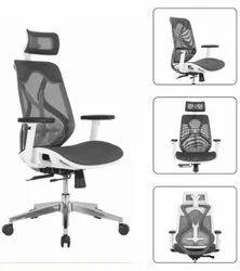 Executive High Back Chair - Ergon Mesh White
