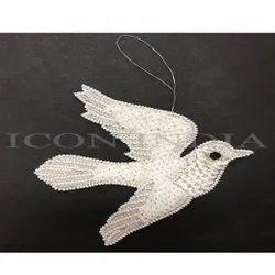 Handmade Christmas Dove Hanging