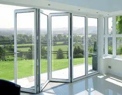 Folding Door Toughened Glass UPVC Doors, 6 Mm