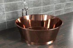 Bath tub copper Round