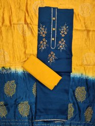 Rayon Cotton Handwork Dress Material