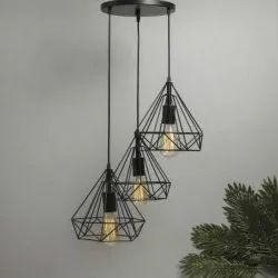 LED Black Diamond Ceiling Hanging Lamp, For Decoration, 4 W