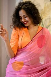 Present Malamal Linen Cotton Designing Beautiful Saree 6040
