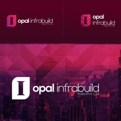 Printed 2d Iopal Infrabuild Logo Design