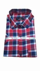 ENZO Checks Mens Full Sleeve Check Cotton Shirt, Machine wash, Size: 40