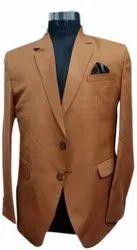 Party Brown 3 Pc Mens Duster Blazer Suit