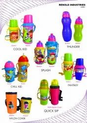 Sipper With Straw Type Kids Water Bottle With Belt, For For School Children, India