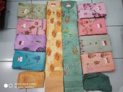 Unstitched Unstitch Chikan Salwar Suit, Handwash