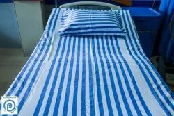 Hospital Cotton Striped Bed Sheets