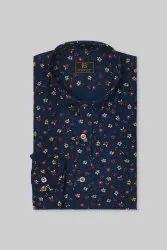 Boros 100% Cotton Ash blue Mens Formal Shirt, Machine wash