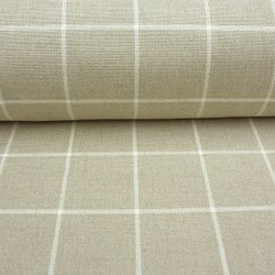 Linen Check Fabric, 100 GSM, Check/stripes