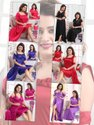 Short Length Plain Kavyansika Vol 225 Designer Satin Plain Fine Quality Night Wear, Xl