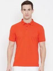 HARBOR N BAY Men Orange Solid Polo Collar T-shirt