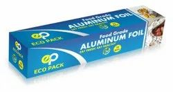 Eco Pack Silver Food Grade Aluminum Foil Rolls, Thickness: 11 Micron
