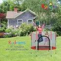 55 Inch Trampoline With Safety Net ( Red & Black )