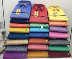 JOHN MORRIS Multicolor Formal Plain Mens Cotton Shirts(Core Item)