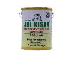 5 L Tin Can Jai Kisan Regular PVC Solvent Welding Compound