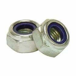 Evident International Zinc Plated Stainless Steel Nylock Nut, Thickness: 10 To14 Mm, Size: M3 To M30