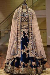 Present Tafeta Silk Lahenag Choli With Embroidery Work