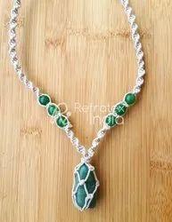 Refratexindia Party Wear Fancy Accessories Handmade Macrame Jewellery