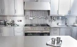 Classic Stainless Steel Modular Kitchen