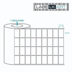 White Paper Chromo Label 20x15mm 4 up (6000 Labels), Packaging Type: Roll