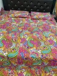 Pink Paisely Quilted Bed Cover