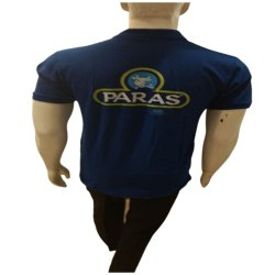 Polo Neck Blue Men Half Sleeves T Shirt, Size: S-XL